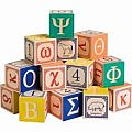 Uncle Goose Greek Alphabet Wooden Blocks