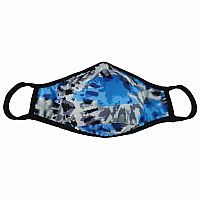 Adult Blue/Grey Camo Face Mask