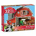 Busy Barn Shaped Floor Puzzle 32pc