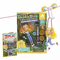 Goldie Blox Girl Inventor Zipline Action Figure