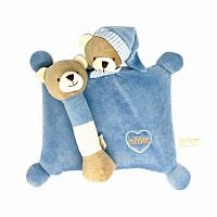 Organic Cotton Bear Blankey and Rattle Set