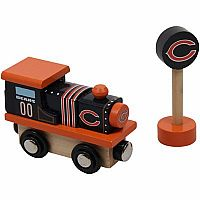 Chicago Bears Wooden Train Engine