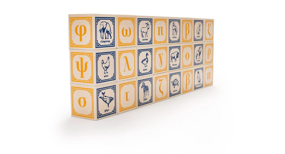 Uncle Goose Greek Alphabet Wooden Blocks - Building Blocks