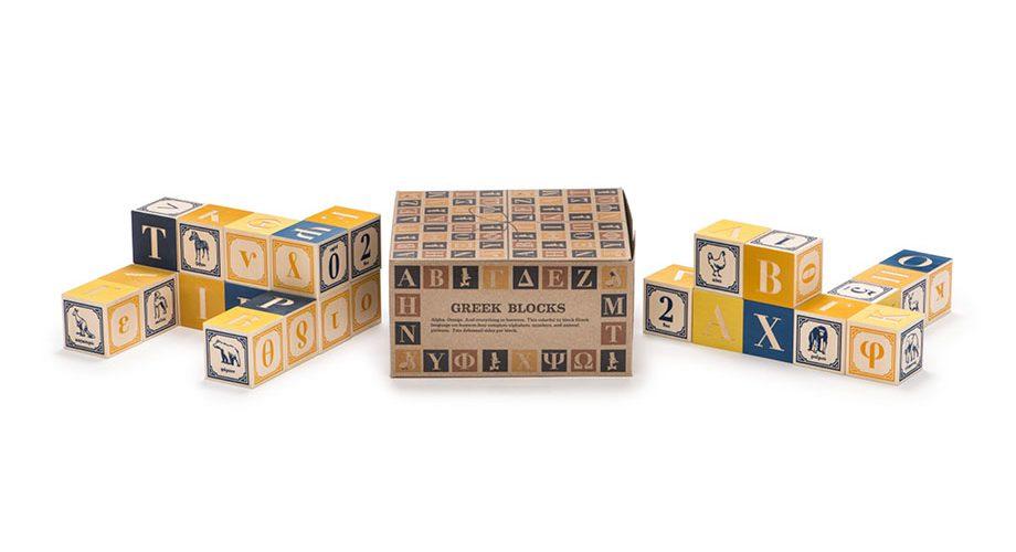 Uncle Goose Greek Alphabet Wooden Blocks