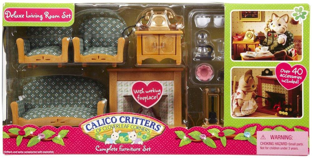 Deluxe living room set building blocks - Calico critters deluxe living room set ...