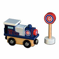 Chicago Cubs Wooden Toy Train Engine