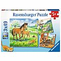 Cuddle Time 3x49pc Puzzles