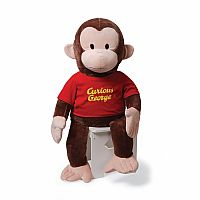 "Gund Curious George Red Shirt 36"" Plush"