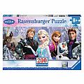 Frozen Friends 200 pc Panoramic Puzzle