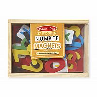 Wooden Number Magnets 0449