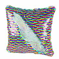 Magic Sequins Pillow in Rainbow