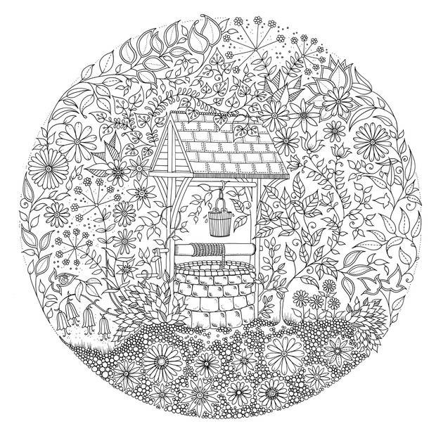 It's just an image of Impeccable coloring books secret garden