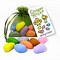 8 Pastel Crayon Rocks in a Spring Green Bag